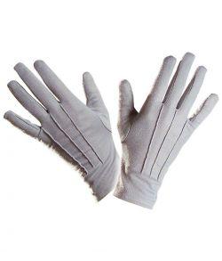 Billige korte grå handsker til udklædning.