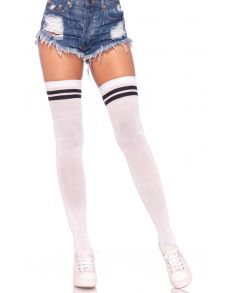 Hvide athletic kvalitets stockings med sorte detaljer