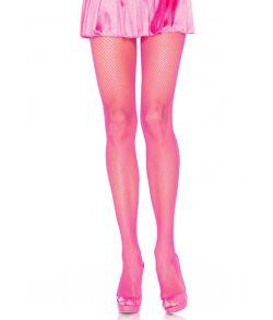 Neon pink kvalitets netstrømpebukser