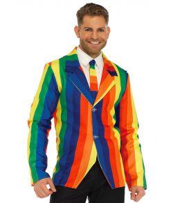 Flot jakke i regnbuens farver fra Leg Avenue.