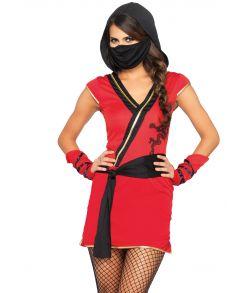 Billigt Ninja kostume til piger til sidste skoledag.