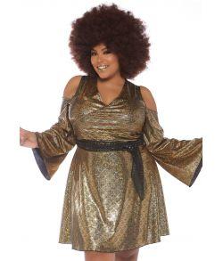 Disco Doll kostume til store damer fra Leg Avenue.