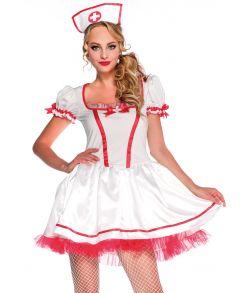 Billigt sygeplejerske kostume til sidste skoledag.