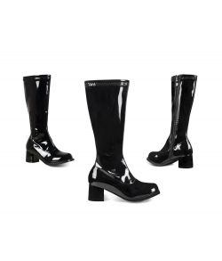 Sorte discostøvler til piger til fastelavn.