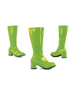 Grønne disco støvler til kostume til piger.