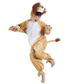 Billigt løve kostume til børn til fastelavn.