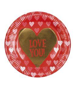 Tallerken LOVE til Valentisdag.