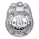 Sølv politiskilt til politi udklædning.