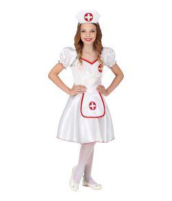 Billigt Sygeplejerske kostume til piger.