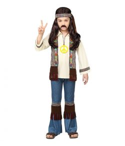 Billigt Hippie kostume til drenge.