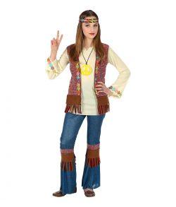 Billigt Hippie kostume til piger til fastelavn.