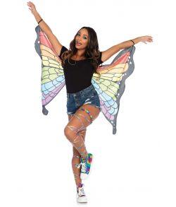 Flotte sommerfugle vinger med regnbuefarvet tryk