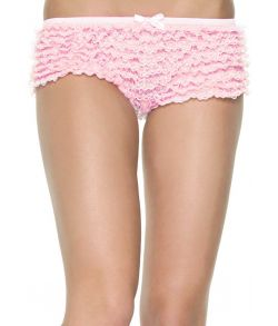 Flotte pink hotpants med flæser