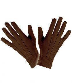 Korte brune handsker til udklædning.