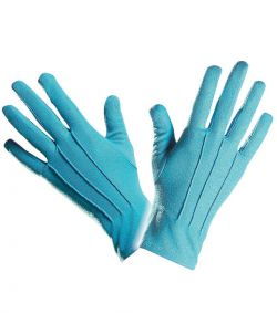 Korte blå handsker til Smølfe udklædningen.