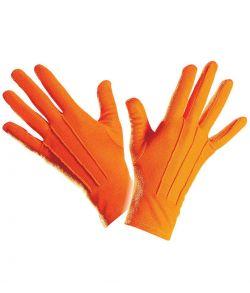 Korte orange handsker til udklædning.