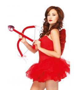 Sødt sæt med flot rød bue, pil og vinger