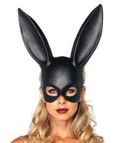 Elegant sort kaninmaske i tynd plastik
