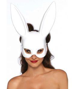 Elegant hvid kaninmaske i tynd plastik