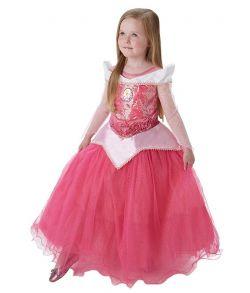 Flot Tornerose kjole med pailletter til piger.