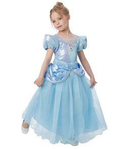 Flot Askepot kjole med pailletter til piger til fastelavn.