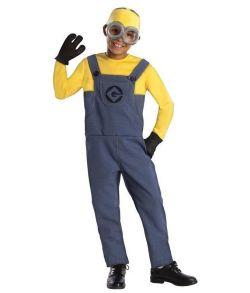 Billigt Minion Dave kostume til drenge.