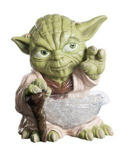Star Wars Yoda figur med plastik slikskål.