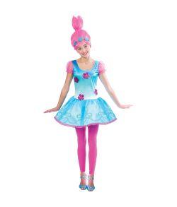 Trolls Poppy kostume til teens.