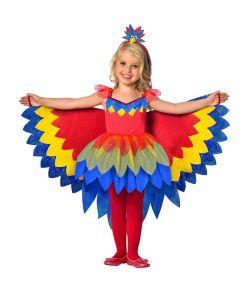 Flot Papegøje kostume til piger til fastelavn.