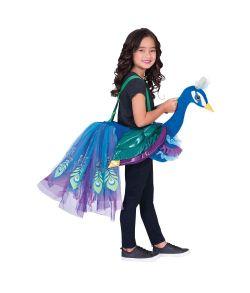 Påfugl kostume til piger.