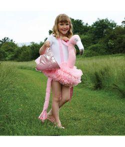 Flamingo Ride On kostume til børn.