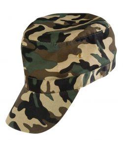 Army cap med camouflage mønster til udkædning.