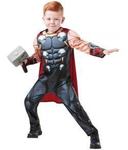 Thor Avengers kostume med hammer til drenge.