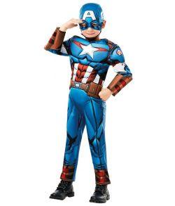 Captain America Avengers Assemble kostume til drenge.