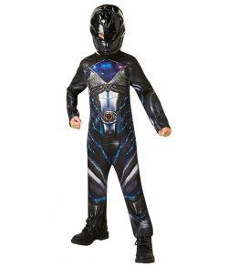 Sort Power Ranger kostume til drenge.