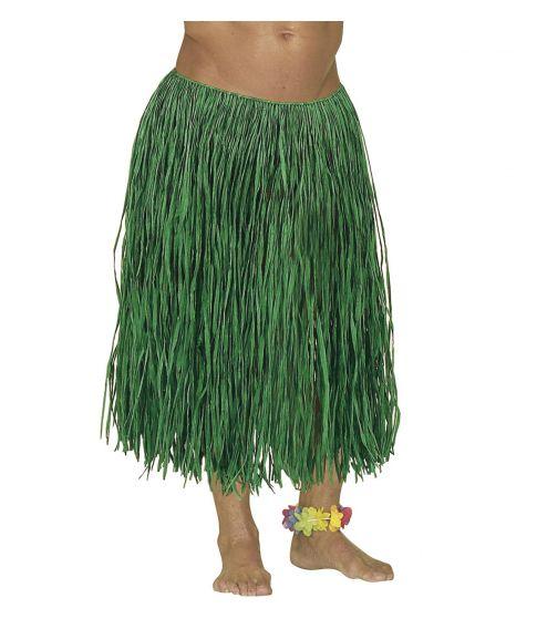 Langt grønt bastskørt hawaii udklædningen.