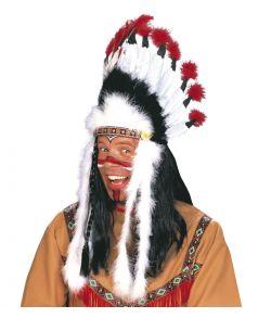 Indianer fjerprydelse til høvdinge udklædningen.
