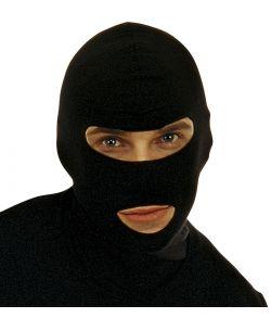 Sort maske til ninja udklædning.