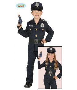 Politi kostume til piger og drenge til fastelavn.