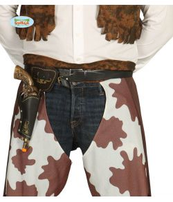 Cowboybælte med revolver til udklædning.
