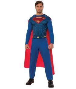 Superman kostume med jumpsuit med kappe til voksne.
