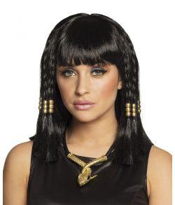Billigt sort paryk til Kleopatra udklædningen.