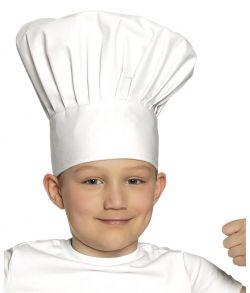 Flot kokkehue i stof til børn.