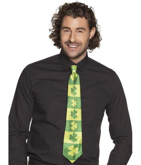 Grønt slips med kløver til Sankt Patricks dag.