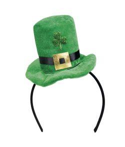 Sankt Patrick mini hat på hårbøjle.