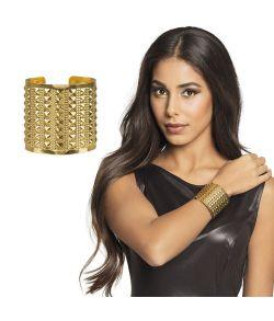 Flot guldarmbånd i metal til f.eks. cleopatra udklædningen