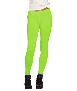 Neongrønne leggings til 80er udklædningen.