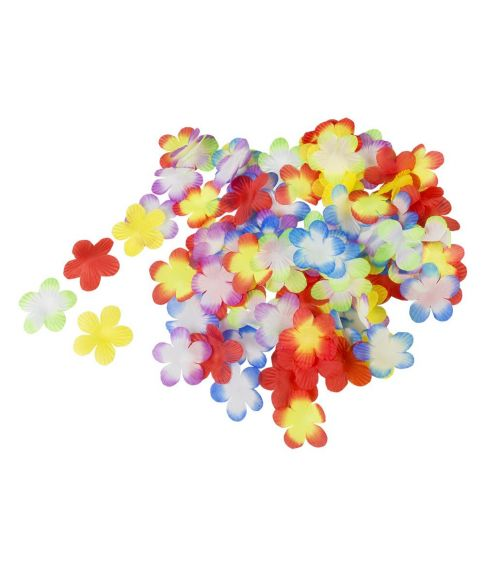 Farverige blomster konfetti i stof, 300 stk
