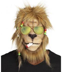 "Sjov rastaløve maske med solbriller og ""joint"""