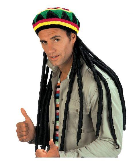Rastafari hat med hår